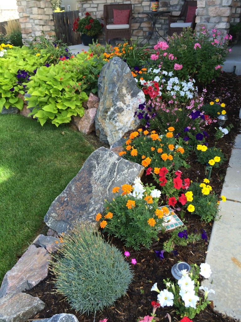 Flowerbed landscaping lafayette co